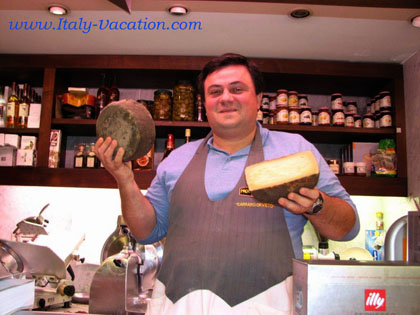 Go directly to Querciollo  our best in Toscana . In Orvieto  Carraro , ask Carlo for  pecorino cheese  called Cenerino
