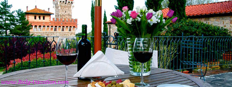 www.Italy-Vacation.com  Tenuta  castello  Tuscany - Bucine  Luxury Vacation Castle House