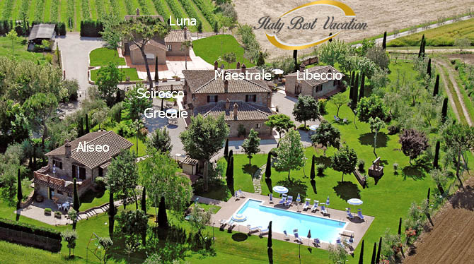 Italy–VacationRose Di Barbara estate& Apartments location