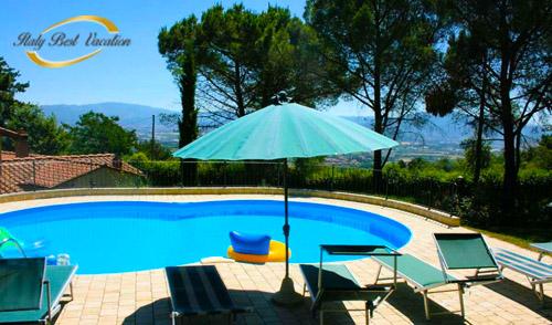 Italy  Vacation Alba farmhouse pool .  Toscana near Arezzo