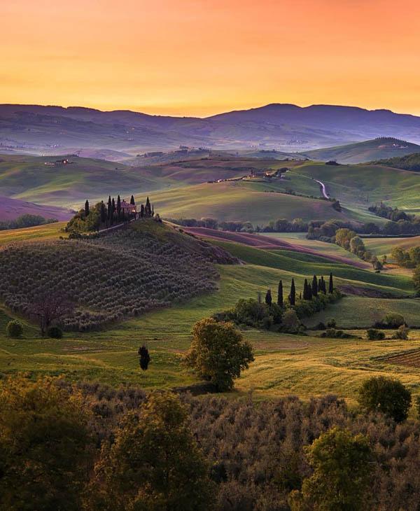 Fattoria Chianti -Toscana landscape  Val d'Orcia