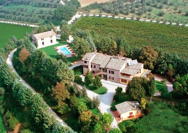 Italy Vacation - Az. Casolari Perugia  Agriturismo umbria .  arial view